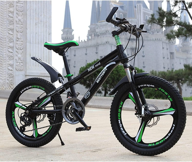 美しい 家- 子供の自転車20インチのスピードマウンテンバイク6-10-11-12歳の少年女子二重ディスクブレーキ(多色オプション)
