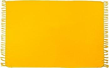 MANUMAR Damen Pareo blickdicht, Sarong Strandtuch mit Schnalle, Sommer Handtuch 155x115cm, 175x115cm und 225x115cm XXL Übergröße, Hippie Sommer Kleid Sauna Hamam Lunghi Bikini Coverup Strandkleid