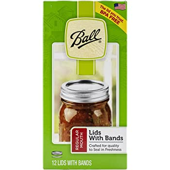Ball Lid/Band Regular Mouth Silver 12pc Jar Lids & Bands, 12 Count