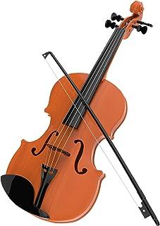 سلام بازی! Kid's Toy Violin با 4 رشته و کمان قابل تنظیم - صداهای موزیکال- ابزاری واقع گرایانه برای یادگیری موسیقی کلاسیک (395279FUB)