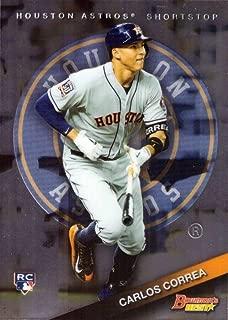 2015 Bowman's Best Baseball #58 Carlos Correa Rookie Card