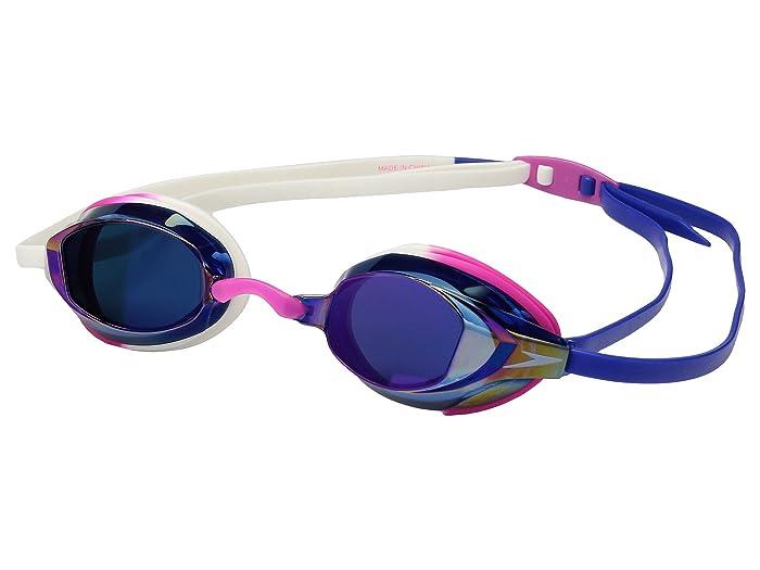 Speedo Vanquisher EV Mirrored (Pink/White) Water Goggles
