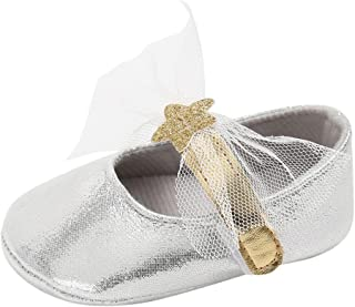 Weixinbuy Toddler Baby Girl's Bowknot Soft Sole Princess Shoe Mary Jane Flats