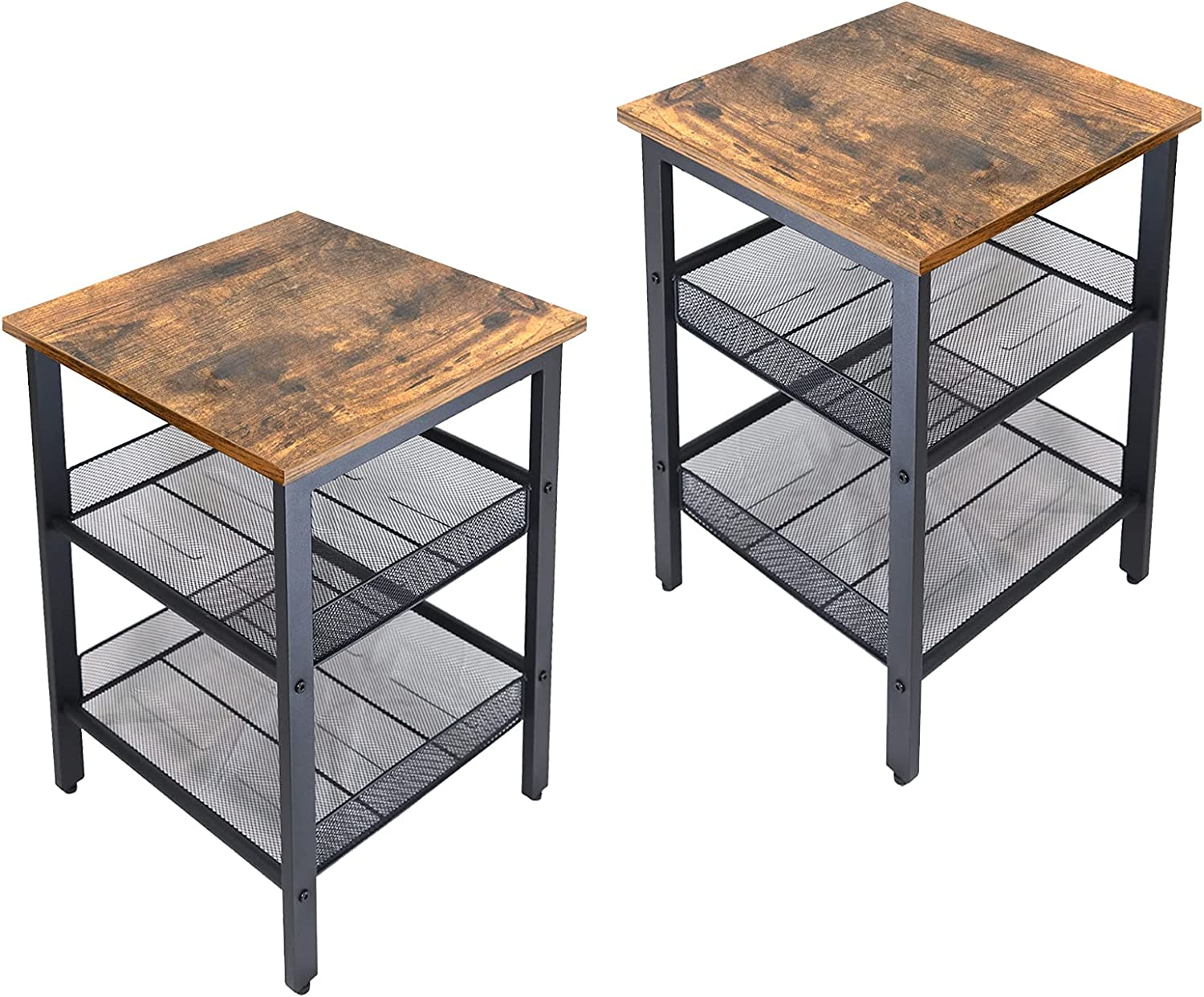 JPNTOYE End Table Set of Genuine Sales of SALE items from new works Free Shipping 2 Nightstand Living Industrial Room Ta