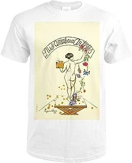 L'Aide Amicale aux Artistes Vintage Poster (artist: Suzanne Valadon) France c. 1927 66052 (Premium White T-Shirt XX-Large)