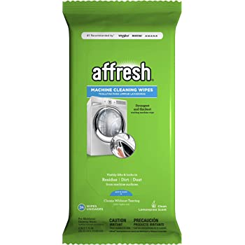 Affresh Washing Machine Cleaner, 24 Wipes | Cleans Front Load and Top Load Washers, Including HE