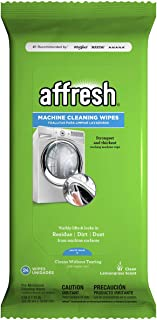 Affresh Washing Machine Cleaner, 48 Wipes (2 Packs, 24 Wipes each) | Cleans Front Load and Top Load Washers, Including HE