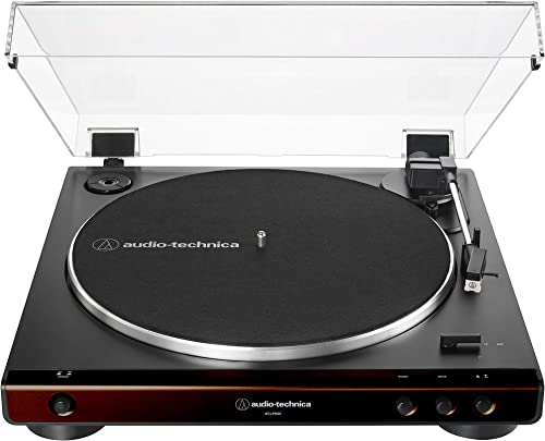 discount Audio-Technica At-LP60X-BW Fully Automatic Belt-Drive Stereo Turntable, Hi-Fi, 2 new arrival Speed, Dust Cover, Anti-Resonance, Die-Cast Aluminum outlet sale Platter Brown outlet online sale
