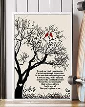 Vision of Love Song Lyrics Mattata Decor Gift Portrait Poster Print (16