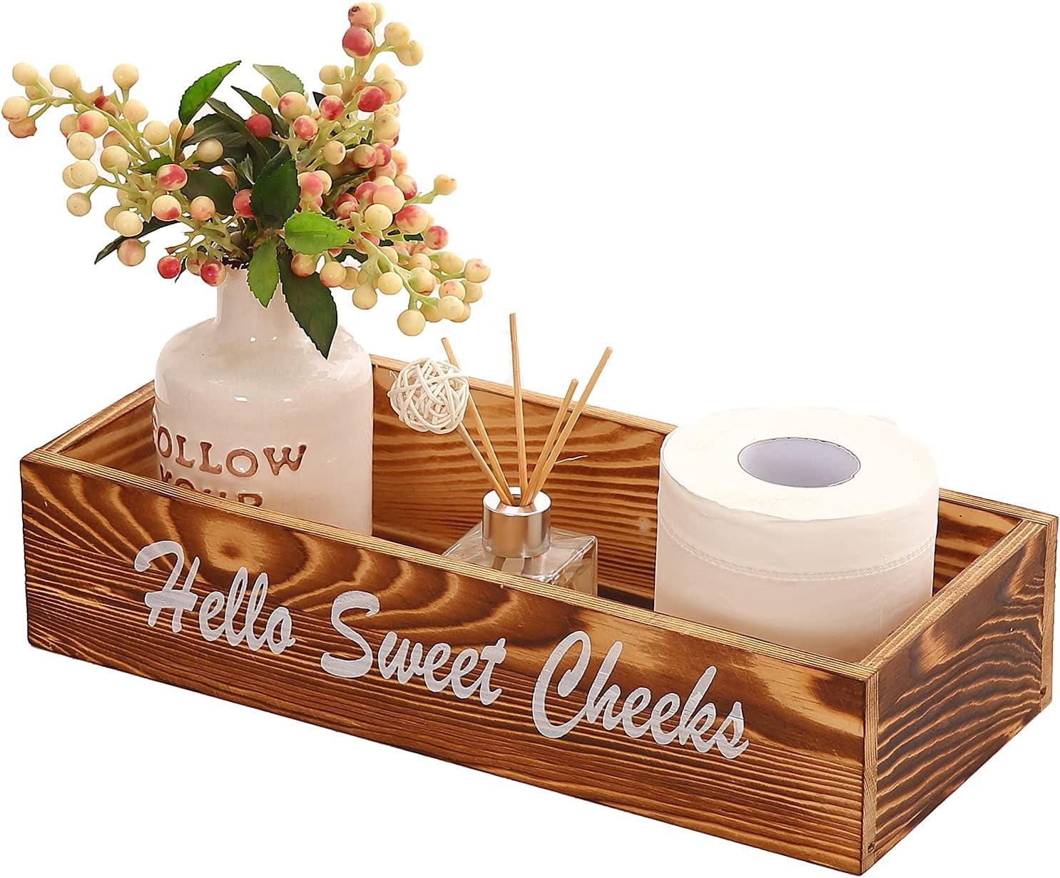 Bathroom Box Decor Rustic Max 90% OFF Orga Ranking TOP3 Trays Holders