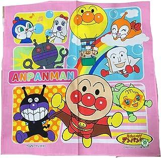 アンパンマン キャラクターハンカチ ピンク系柄(アンパンマンと仲間たち・シャボン玉) 30×30cm ハンカチーフ