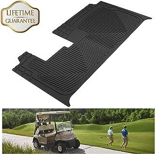KIWI MASTER 地垫挡泥板喇叭 适用于俱乐部汽车 DS 雅马哈 EZGO RXV Fit for E-Z-GO RXV Golf Cart 黑色 VPFLCCEZGOU