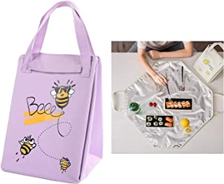 Lunch Bag Insulated Foldable Lunch Box Carrier for Hot or Cold Food, Lunch Tote Bag Handbag Container Bag for Potluck Part...