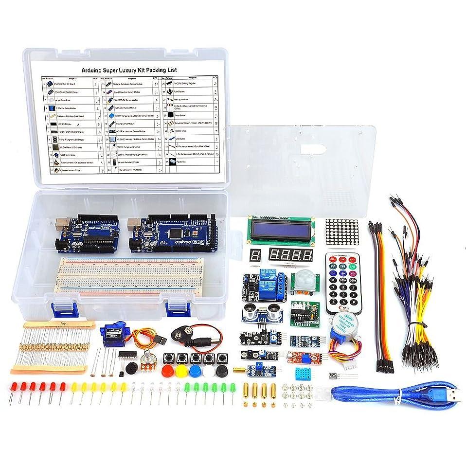 安全性子供っぽい印象的なArduino入門用互換キット 初心者専用実験基本パーツセット部品 (Arduino学習キット豪華版)