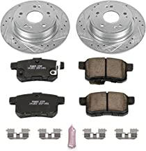 Power Stop K5368 Rear Brake Kit with Drilled/Slotted Brake Rotors and Z23 Evolution Ceramic Brake Pads