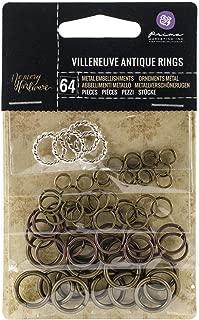 Prima Marketing 655350990626 Memory Hardware Villeneuve Antique Ring Scrapbooking Embellishments