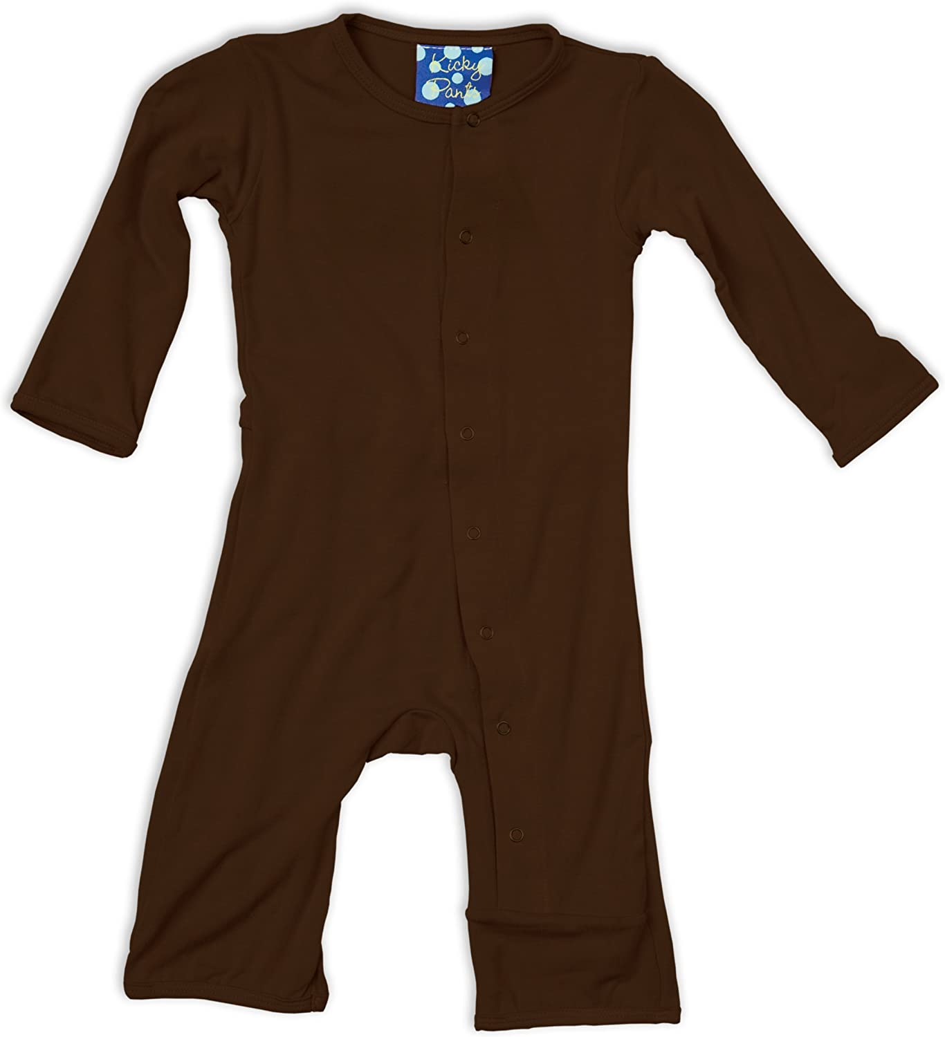 KicKee Pants Coverall, Bark, 6-12 Months