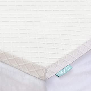 RECCI 2-Inch Memory Foam Mattress Topper King, Pressure-Relieving Bed Topper, Memory Foam Mattress Pad with Bamboo Viscose Cover - Removable&Washable,CertiPUR-US(King Size)
