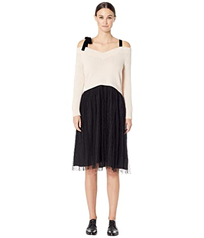 RED VALENTINO Carded Wool Yarn and Point D