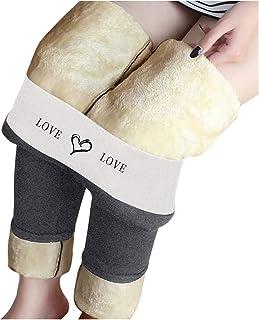 Generic Legging doublé Polaire Pantalon Femme, Jegging Extensible Taille Haute, Doux Chaud Collant Thermique Hiver Grande ...