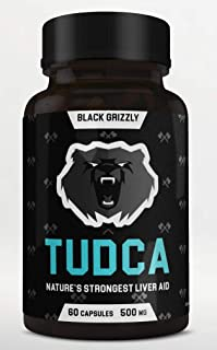 Sponsored Ad - Black Grizzly Maximum Strength TUDCA 500 MG (Tauroursodeoxycholic Acid) - 500 MG Per Serving for Ultimate L...