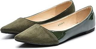 olive green womens flat shoes