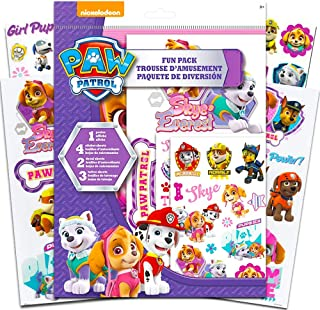 Paw Patrol Activity Playset -- Skye and Everest Paw Patrol Stickers, Temporary Tattoos, Posters and More (Paw Patrol Party Supplies for Girls Kids)