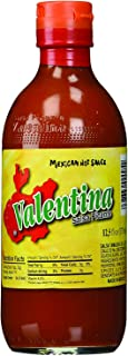 Valentina Salsa Hot Red Sauce Spice Mix Made From Red Peppers Perfect For Chips Fast Foods Lunch Snacks or More 12.5 Ounce...