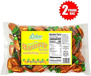 R.M. Palmer Parsnip Pete's Double Crisp Chocolate Flavor Carrots – 2 Lbs. – Individually Wrapped Easter Bulk Candy – Perfect For Gift Baskets – Delightfully Smooth and Crunchy