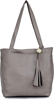 GLOSSY PU Shoulder Bag For Women/Girls - Khaki