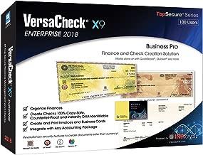VersaCheck X9 Enterprise 2018 - 100 Users - Finance & Check Creation Software