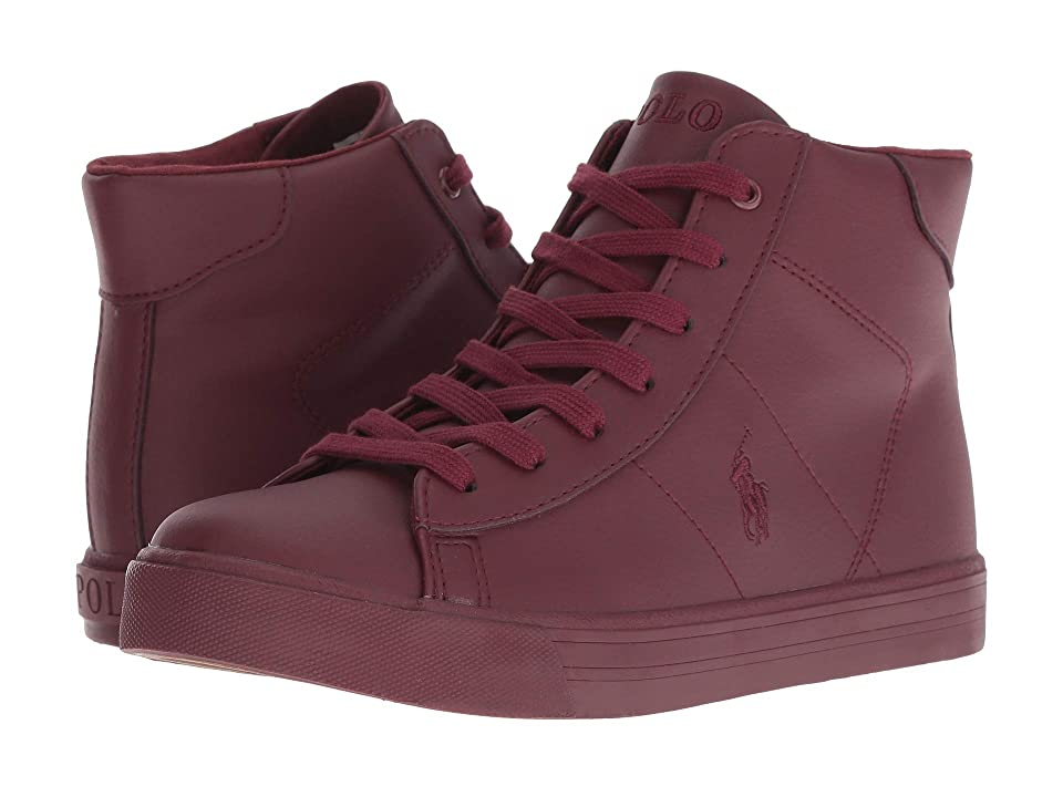Polo Ralph Lauren Kids Easten Mid (Big Kid) (Triple Burgundy Tumbled) Kid