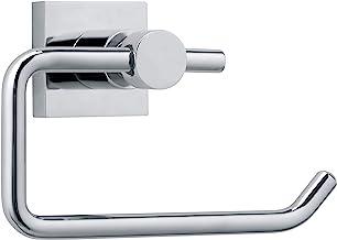 tesa® Hukk toiletrolhouder, hoogglans verchroomd metaal, zelfklevend, 95 mm x 147 mm x 67 mm