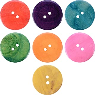Craft Buttons Sewing Buttons - Wooden Buttons in Bulk Buttons for Crafts Button Mix Color- 20pcs Buttons