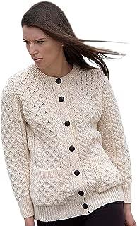 Traditional Aran Wool Irish Cardigan