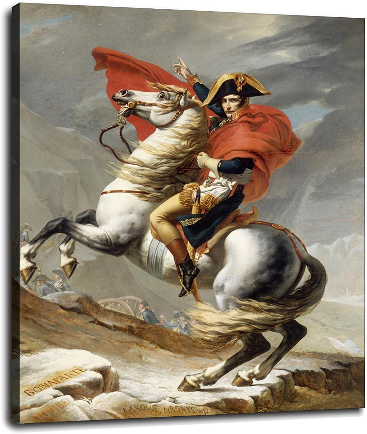 Napoleon Max 68% OFF Crossing The Alps Jacques-Louis A surprise price is realized Canvas Pri Poster David