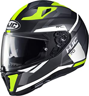 2a3c2e11 HJC Unisex Adult Full Face i 70 Elim Motorcycle Helmet (MC-4HSF Black/