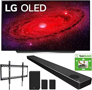 LG OLED77CXPUA 77-inch CX 4K Smart OLED TV with AI ThinQ (2020) Bundle SN11RG 7.1.4 ch High Res Audio Sound Bar + TaskRabbit Installation Services + Monoprice Fixed TV Wall Mount