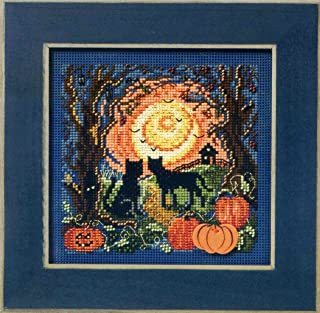 Mill Hill MH14-1206 Moonlit Kitties Beaded Counted Cross Stitch Kit Buttons & Beads 2011 Autumn Series