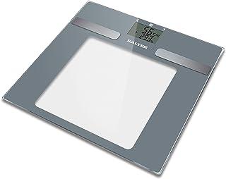 Salter La báscula de baño del analizador calcula el BMI Memory 10 usuarios, capacidad 180 KG, gris