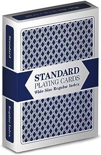Single Blue Deck Standard Playing Cards (Wide Size, Regular Index)