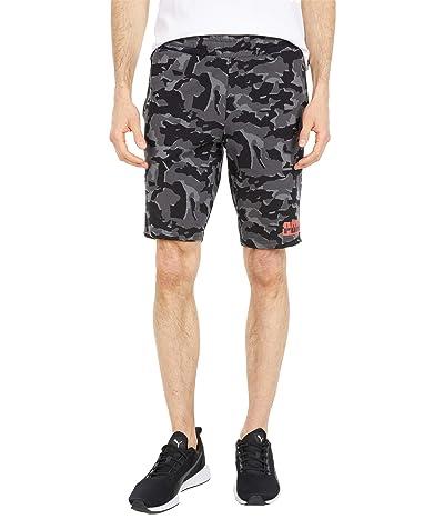 PUMA Core Camo All Over Print Shorts (Cotton Black All Over Print) Men