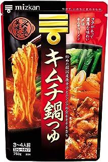 ミツカン 〆まで美味しいキムチ鍋つゆ ストレート 750g×4個 鍋の素