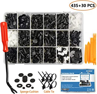 EZYKOO 465 Pcs Car Retainer Clips & Plastic Fasteners Kit...
