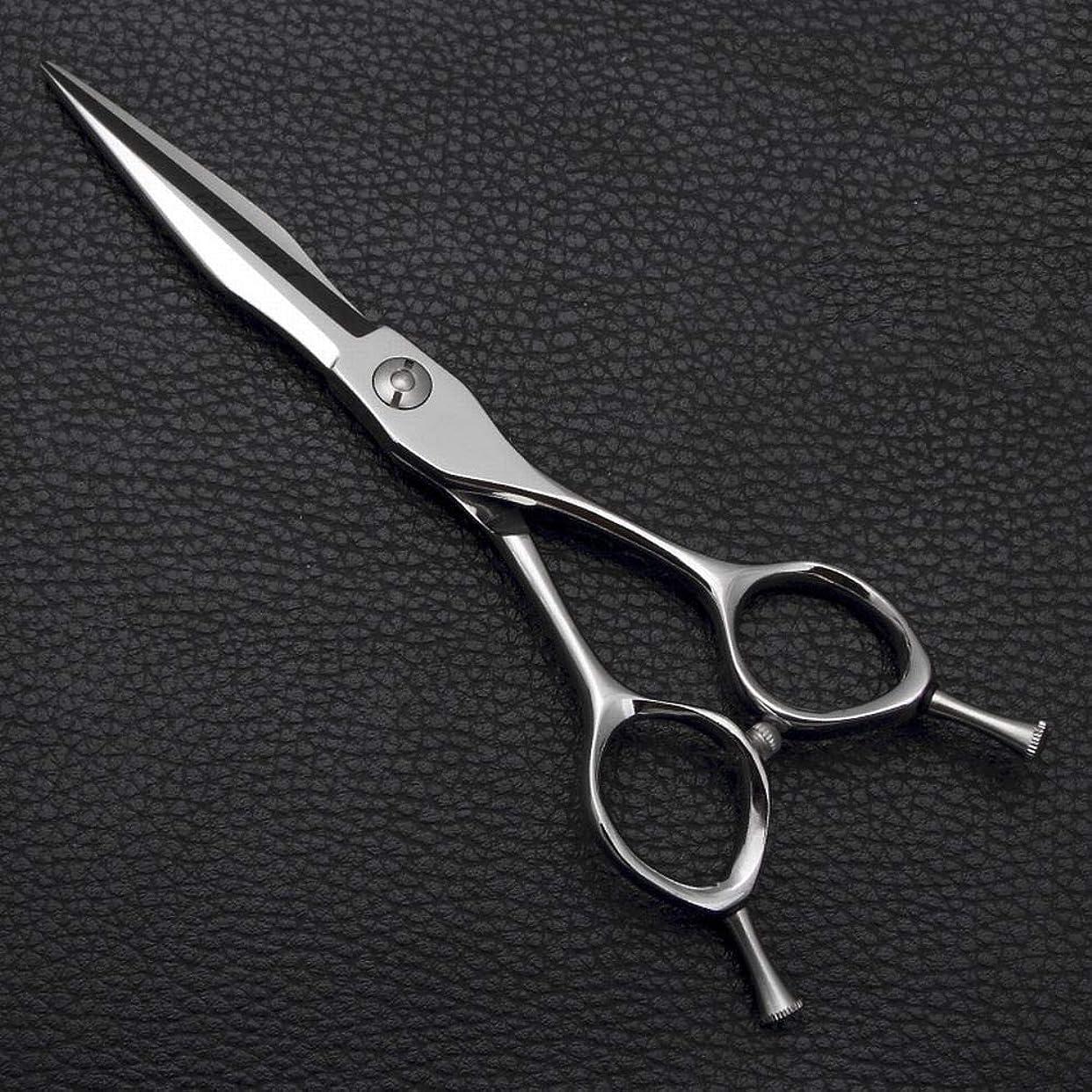 アサー急流上げる6インチプロフェッショナル理髪はさみフラットシザー前髪せん断、家族理髪セット モデリングツール (色 : Silver)