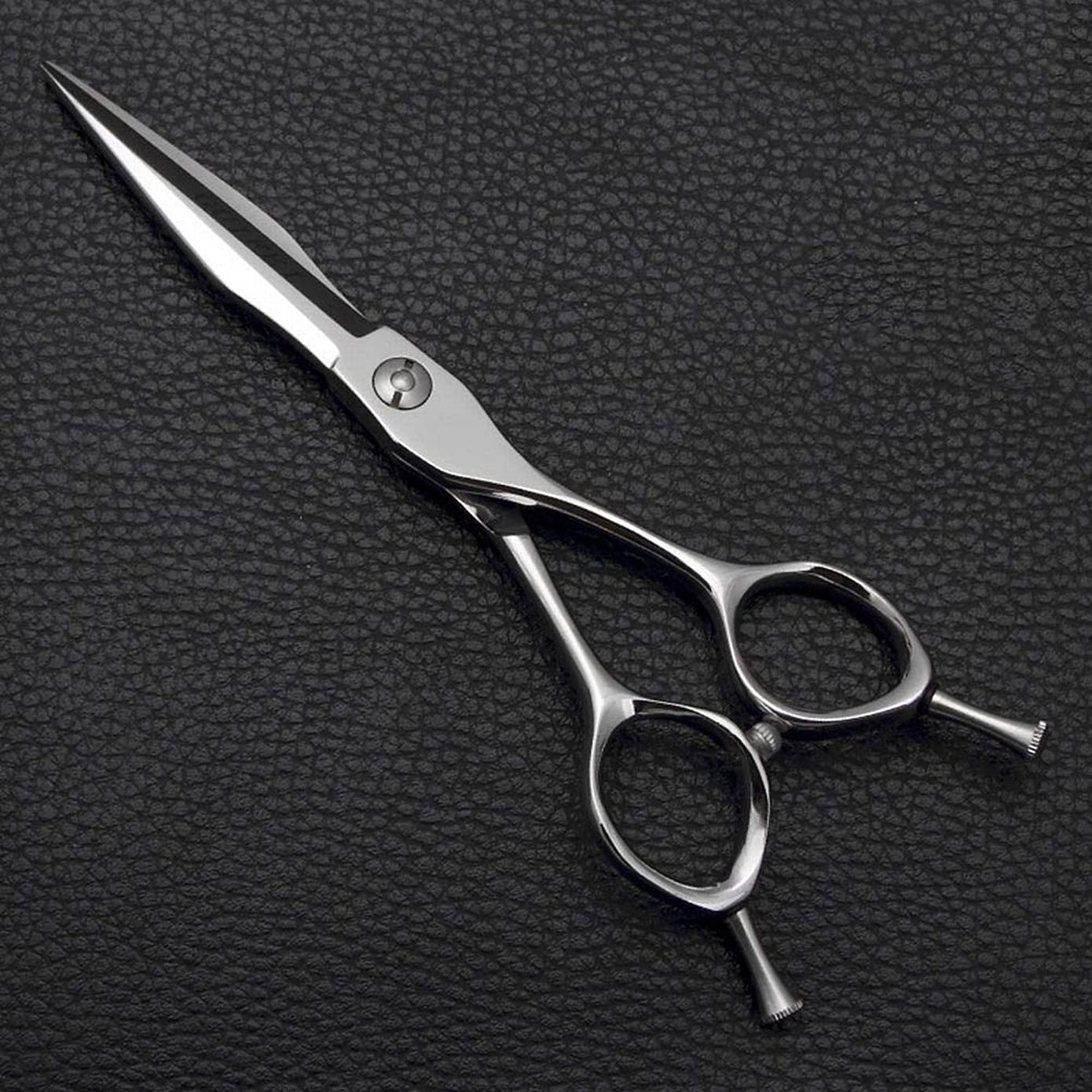 湖シャット症候群理髪用はさみ 6インチプロフェッショナル理髪はさみフラットシザー前髪せん断、家族理髪ツールセットヘアカット鋏ステンレス理髪はさみ (色 : Silver)