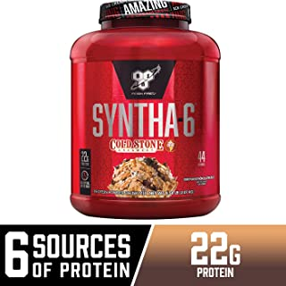 BSN Syntha-6 Whey Protein Powder, Cold Stone Creamery- Germanchökolätekäke Flavor, Micellar Casein, Milk Protein Isolate Powder, 44 Servings