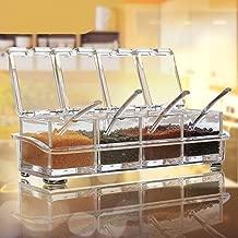 7cm 5pcs Juego Apilables Aderezo Bote Condimento Botellas Aderezo Tanque Cocina Organizador Del Almacenaje 7.5 Znwiem 5pcs