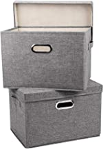 MAOGONG Storage Bins with Lids, Storage Basket with Lids, Collapsible Fabric Bins, Collapsible Storage Containers with Li...