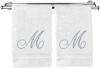 monogrammed bathroom hand towels